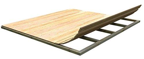 Geräteschuppen Boden aus Holzparkett