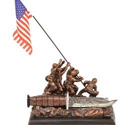 Iwo Jima Memorial Commemorative Dagger Knife W/ Stand