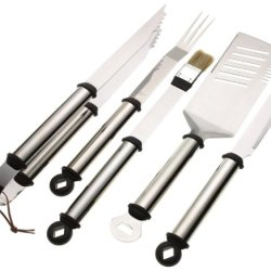Mr. Bar-B-Q 5-Piece Stainless Handle Barbeque Tool Set
