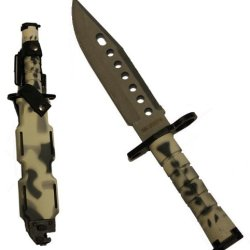 Ultimate Arms Gear Tactical Limited Edition Urban / Snow Camo Camouflage Lightweight Cut Stainless Steel M9 M-9 Military Survival Blade Bayonet Knife With Tactical Sheath Scabbard