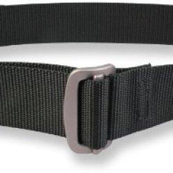Bison Designs Guide Usa Made 38Mm Active Webbing Black Low Profile 7075 Aluminum Buckle Belt, Black, Large/42-Inch Waist