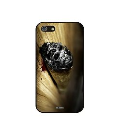 Dh-Hoping (Tm) Cell Phone Case For Personalizatied Custom Picture Iphone 5C Inch High Impackt Combo Soft Silicon Rubber Hybrid Hard Pc & Metal Aluminum Protective Case With Customizatied Skull Black Art Retro Style Luxurious Pattern (Skull-09)
