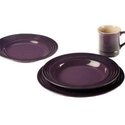 Le Creuset Stoneware 4-Piece Dinnerware Set, Cassis