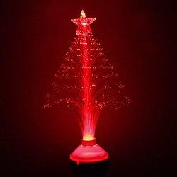 Ggb- E27 Fibre Tree Style Red Light Decoration Light (220V)