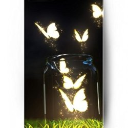 Ouo Stylish Series Case For Iphone 4 4S 4G With The Design Of White Lovely Butterfly
