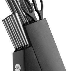 Ginsu Koden Series 14-Piece Cutlery Set With Black Block