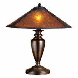 23 Inch H Van Erp Amber Mica Table Lamp Table Lamps
