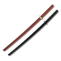"""39 """" Black & Natural Color Wood Bokken Set Katana Size Practice Sword"""