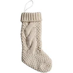 Christmas Decoration Inspiration | White Christmas Stockings