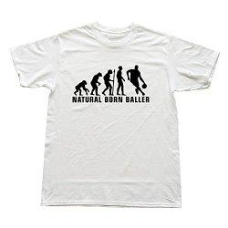Goldfish Men'S Summer Blank Natural Born Baller T-Shirt White Us Size Xl