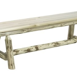 Montana Woodworks Montana Collection Plank Style Bench, 6-Feet, Ready To Finish