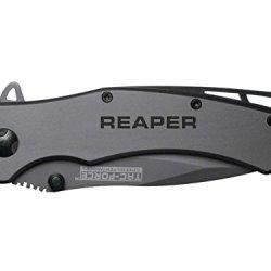 Reaper Text V2 Engraved Tac-Force Tf-820Gy Speedster Model Folding Pocket Knife By Ndz Performance