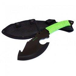 """New 10.5"""" Black Full Tang Zombie Killer Skinner Hunting Knife With Sheath 6738"""