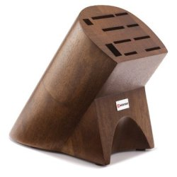 10-Slot Burmese Walnut Knife Block