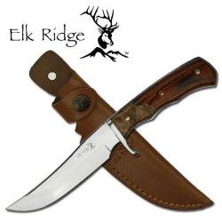 "Er-085 Elk Ridge Wooden Handle 2Zdwrmuxvf Hunting Knife With Sheath 9.5"" Overall Ayeuiu56 Hlbv23Rt Elk Ridge Wooden Handle Hunting Knife Comes With The Sheath. 9.5"" Overall, 4.25"" Blade. 8Khxlq5Tht Full Tang 440 Stainless Steel Guybov5 Blade. Burl & Pakka"