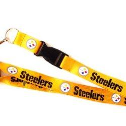 Steelers Gold Clip Lanyard Keychain Id Ticket