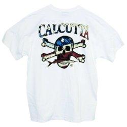 Calcutta Men'S R.W.B Flag Short Sleeve Tee (White, Small)