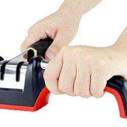 (Diamond & Ceramic) Kitchen Knife Sharpener,Diamond Sharpener,Can Repair Ceramic Knife Small Defects.