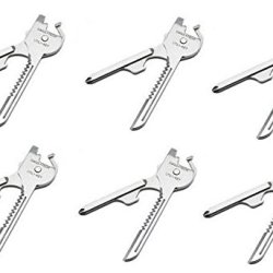 6 Packs Swiss+Tech St66676 Utili-Key 6-In-1 Key Ring Multi-Function Tool (Quantity 6)