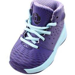 Adidas Boys' Derrick Rose 3.5 Basketball Shoes-Purple/Light Blue-9