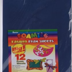 Foam Sheets 12-Inch By 18-Inch, 12/Pkg, Fashion Colors