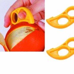 2 Pack Citrus Orange Peelers - Ezpeel Brand 2 Hole Style