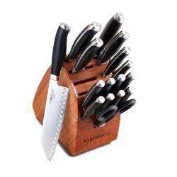 Calphalon Contemporary Cutlery 17-Piece Cutlery Set With Wood Knife Block