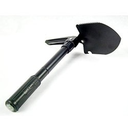 Bestbuygoods Crazy Price Military Style Survival Folding Serrated Multi-Function Shovel For Camping Hiking Garden Tool Bbg18S411S