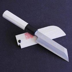 Yoshihiro Shiroko High Carbon Steel Kasumi Kenmuki Japanese Utility Chef Knife 4.75Inch (120Mm)