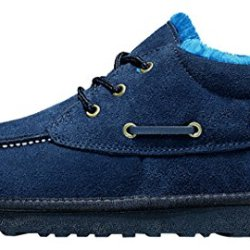 Milanao Men Winter Keep Warm Pure Color Cotton New Style Windproof Snow Boots(6.5D(M)Us,Blue)