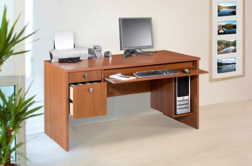 Picture of Comfortable Nexera Essentials 60-Inch Computer Desk with File Drawers - Cappuccino (B0050JCSEM) (Computer Desks)