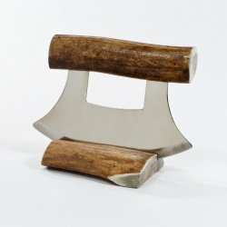 Made In Alaska Natural Caribou Antler Ulu Knife