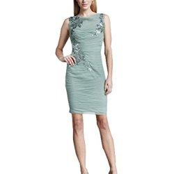 Tadashi Shoji Green Sequined Mesh Sheath Dress (10)