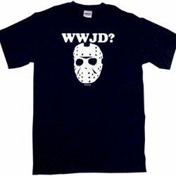 What Would Jason Do Hockey Mask Logo Men'S Tee Shirt 5Xl-Black