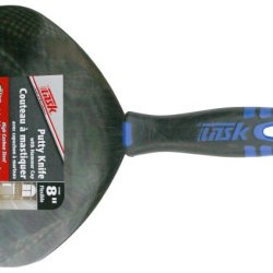 Task Tools 8-Inch Hcs Flexible Putty Knife W/Flexfit Grip & Hammer Cap, Color May Vary