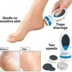 Powerful Rechargeable Electric Foot Spa Smoother /Pedicure Kit /Foot Care Kit /Callus Skin Dead Skin Remover