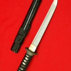 Handmade Damascus Japanese Dragon Samurai Tanto Sword