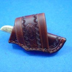 Custom Leather Knife Sheath That Fits A Anza Az61E Knife. Knife Not Included