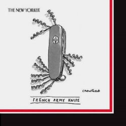 """Napkin - Beverage Size """"French Army Knife"""" (The New Yorker)"""
