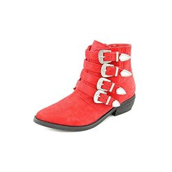 Kelsi Dagger Dallas Womens Size 6.5 Red Suede Fashion Ankle Boots