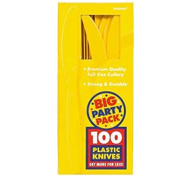 Amscan Yellow Sunshine Big Party Pack Knives (100)