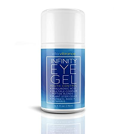Vita Vibrance Infinity Eye Gel offers a Facelift in a bottle through a powerful combination of All Natural ingredients.  Hyaluronic Acid, Complex Peptide Blends, Plant Stem Cells, Matrixyl 3000+ and Vitamin E. These all Natural ingredients have a pro...