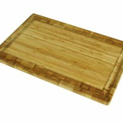 Island Bamboo 18-Inch Sano Carving Board With Gravy Groove