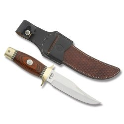 Colt Redwood Bowie Fixed Blade Knife, 5.75In, Stainless Clip Point, Redwood Handle Ct816