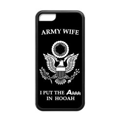 Jdsitem Unique Proud Army Wife Design Case Cover Sleeve Protector For Phone Iphone 5C Tpu (Laser Technology)