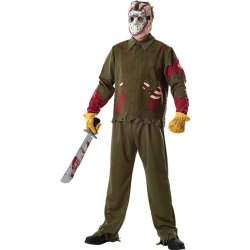 Friday The 13Th Jason Voorhees Deluxe Adult Costume Size: Standard (Up To Size 44)