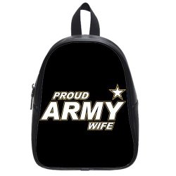 Jdsitem Simple Proud Army Wife Star Design Size M Backpack School Bag Satchel