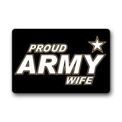 Jdsitem Simple Proud Army Wife Star Design Fashion 23.6 Inch By 15.7 Inch Doormat Door Mat / Pad