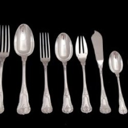 """A Stunning 213 Piece Sterling Silver Flatware Set, Including A Gorgeous Assortment Of 22 Serving Pieces And 8 Anti-Tarnish Storage Wraps, By International Known French Silversmiths """"Fouquet-Lapar"""" In Excellent Condition (Circa 1890) !!"""