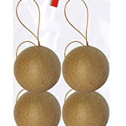 Decopatch Mache Set Of 6 Balls Brown